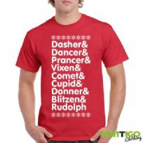 Reindeer Names t-shirt